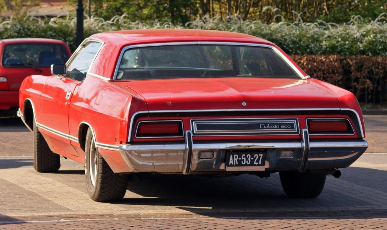 1971 Ford Galaxie 1971 Ford Galaxie 500 2 Door Hardtop Rear View
