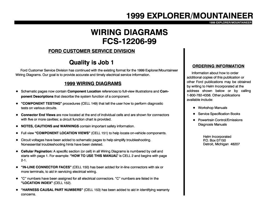 1999 Explorer Mountaineer Wiring Diagramas Pdf  6 58 Mb